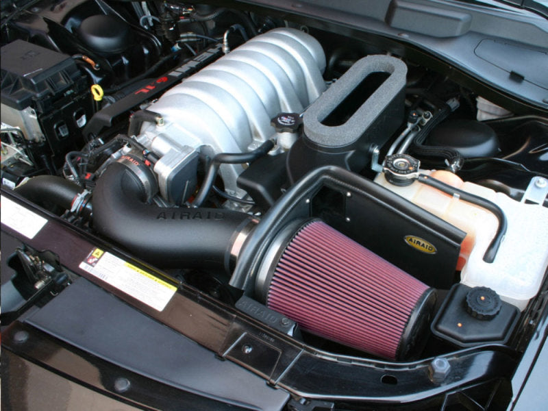 Airaid 06-10 Dodge Charger / 08 Magnum SRT8 6.1L Hemi CAD Intake System w/ Tube (Dry / Red Media)