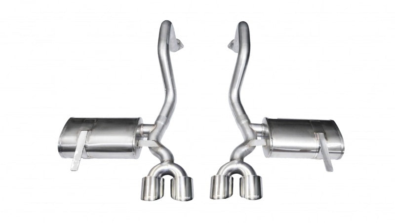 Corsa 97-04 Chevrolet Corvette C5 Z06 5.7L V8 Polished Xtreme Axle-Back Exhaust