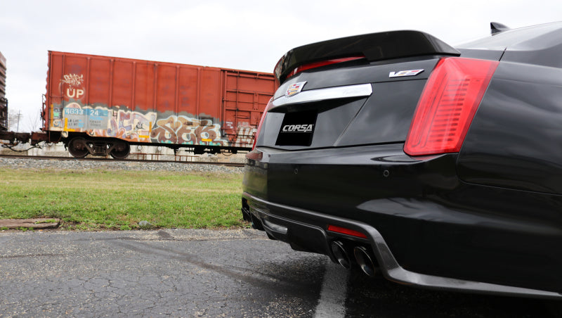 Corsa 2016 Cadillac CTS V Sedan 6.2L V8 2.75in Polished Sport Axle-Back Exhaust