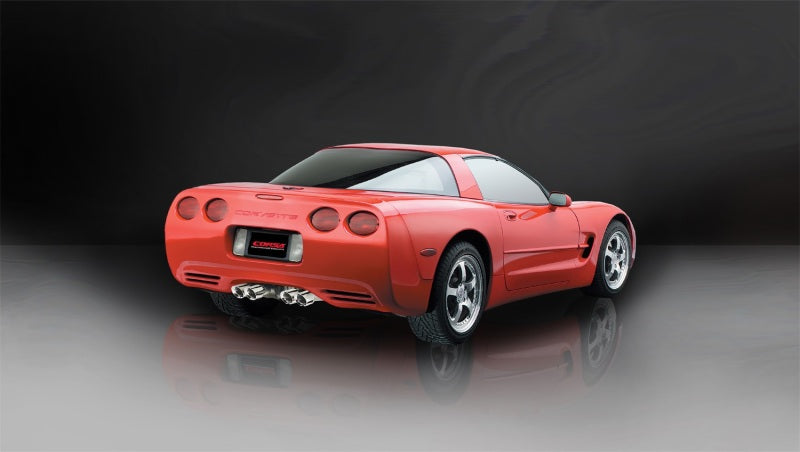 Corsa 97-04 Chevrolet Corvette C5 Z06 5.7L V8 Polished Xtreme Cat-Back + XO Exhaust
