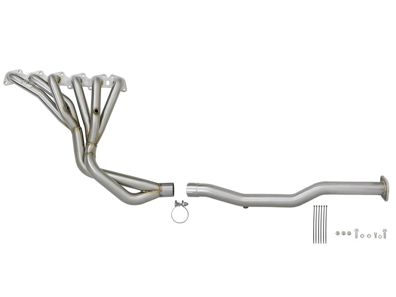 aFe Power Twisted Steel Long Tube Header & Connection Pipes 01-16 Nissan Patrol (Y61) V8-4.8L