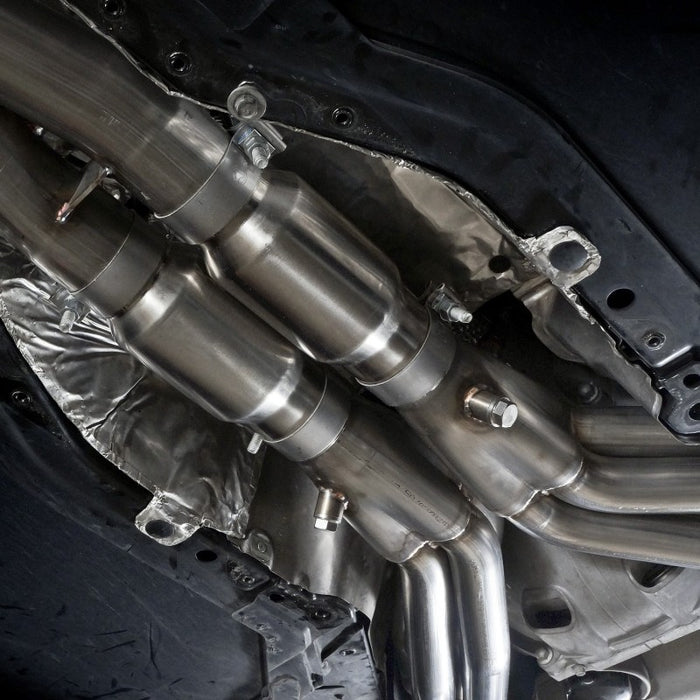 Stainless Works 2014-18 Corvette 6.2L Headers 2in Primaries w/ High-Flow Cats X-Pipe