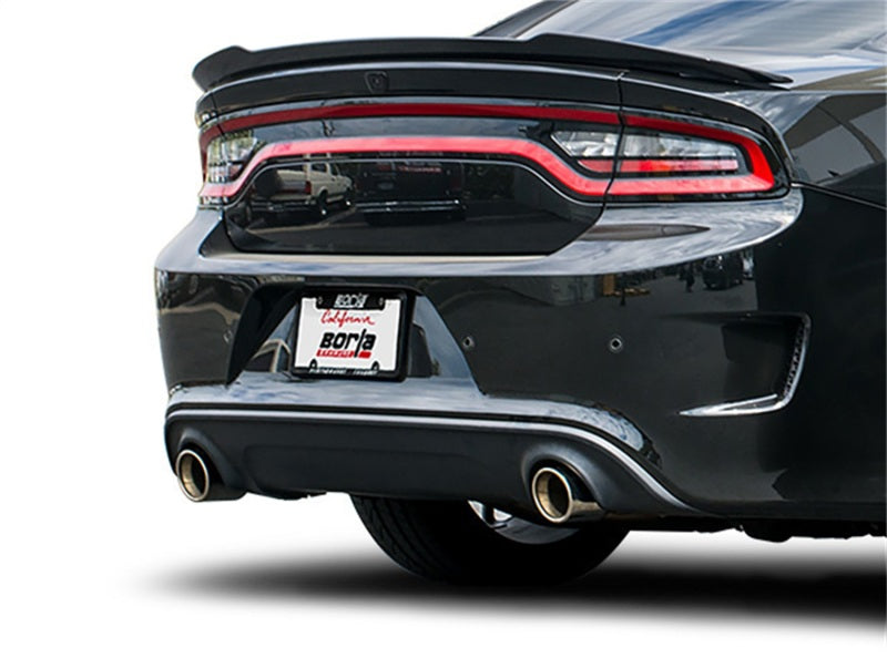Borla 15-16 Dodge Charger Hellcat 6.2L V8 S-TYPE Catback Exhaust w/ Valves No Tips Factory Valance