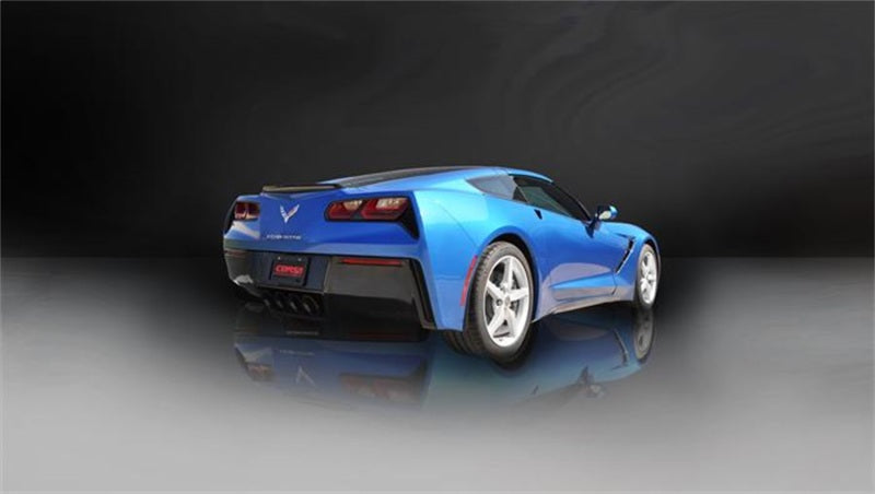 Corsa 2014 Corvette C7 Coupe 6.2L V8 AT/MT 2.75in Valve-Back Dual Rear Exit Black Sport Exhaust