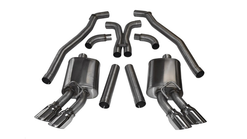 Corsa 12-13 Chevrolet Camaro Coupe ZL1 6.2L V8 Polished Sport Cat-Back + XO Exhaust