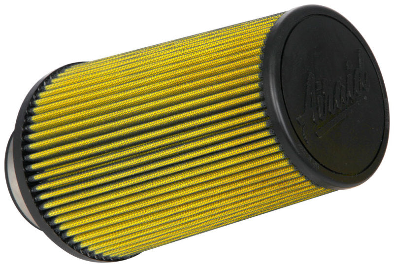 Airaid Universal Air Filter - Cone 3-1/2in Flange x 6in Base x 4-5/8in Top x 9in Height - Synthaflow