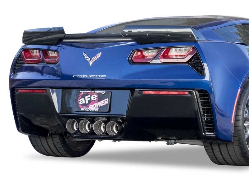 aFe MACHForce XP 3in-2 1/2in Axle Back 304SS Exhaust w/ Polished Tips 15-17 Chevy Corvette Z06