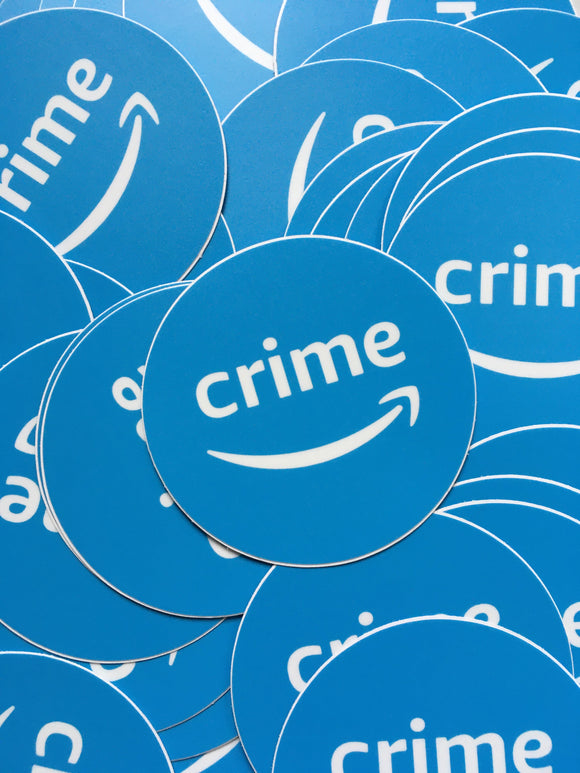 Amazon Crime Sticker