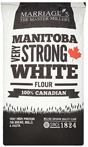Marriages 100% Canadian Manitoba Very Strong White Bread Flour 16kg - Flour 2 Door