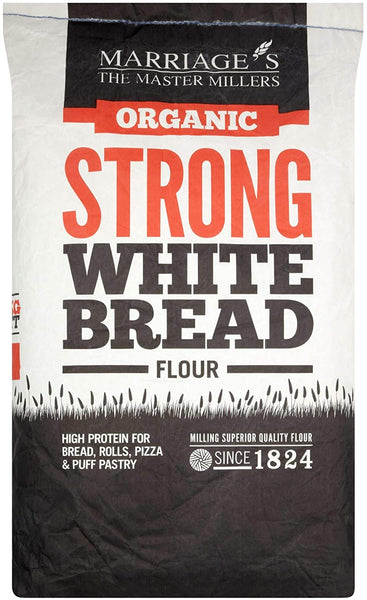 Marriages Organic Strong White Bread Flour 16kg