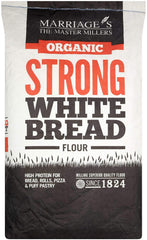 Marriages Organic Strong White Bread Flour 16kg - Flour 2 Door