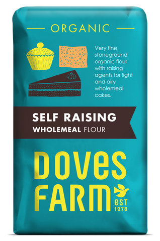 Doves Farm - Organic Self Raising Wholemeal Flour 1kg - Flour 2 Door