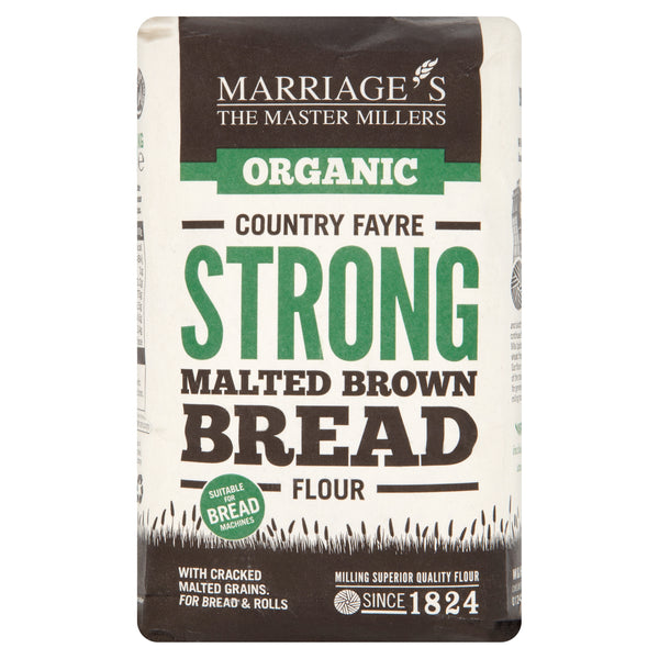 Marriages Country Fayre Strong Malt Brown Bread Flour 1kg