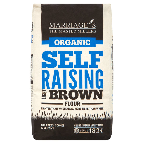 Marriages Organic Light Brown Self Raising Flour 1kg