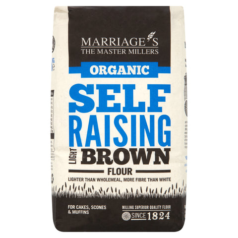 Marriages Organic Light Brown Self Raising Flour 1kg - Flour 2 Door