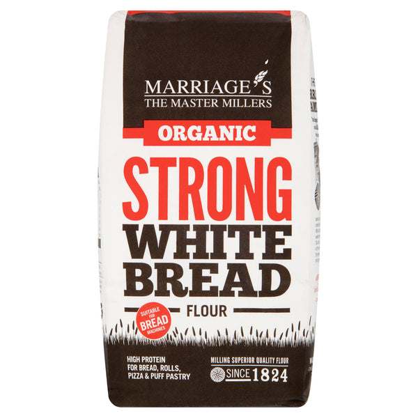 Marriages Organic Strong White Bread Flour - 1kg