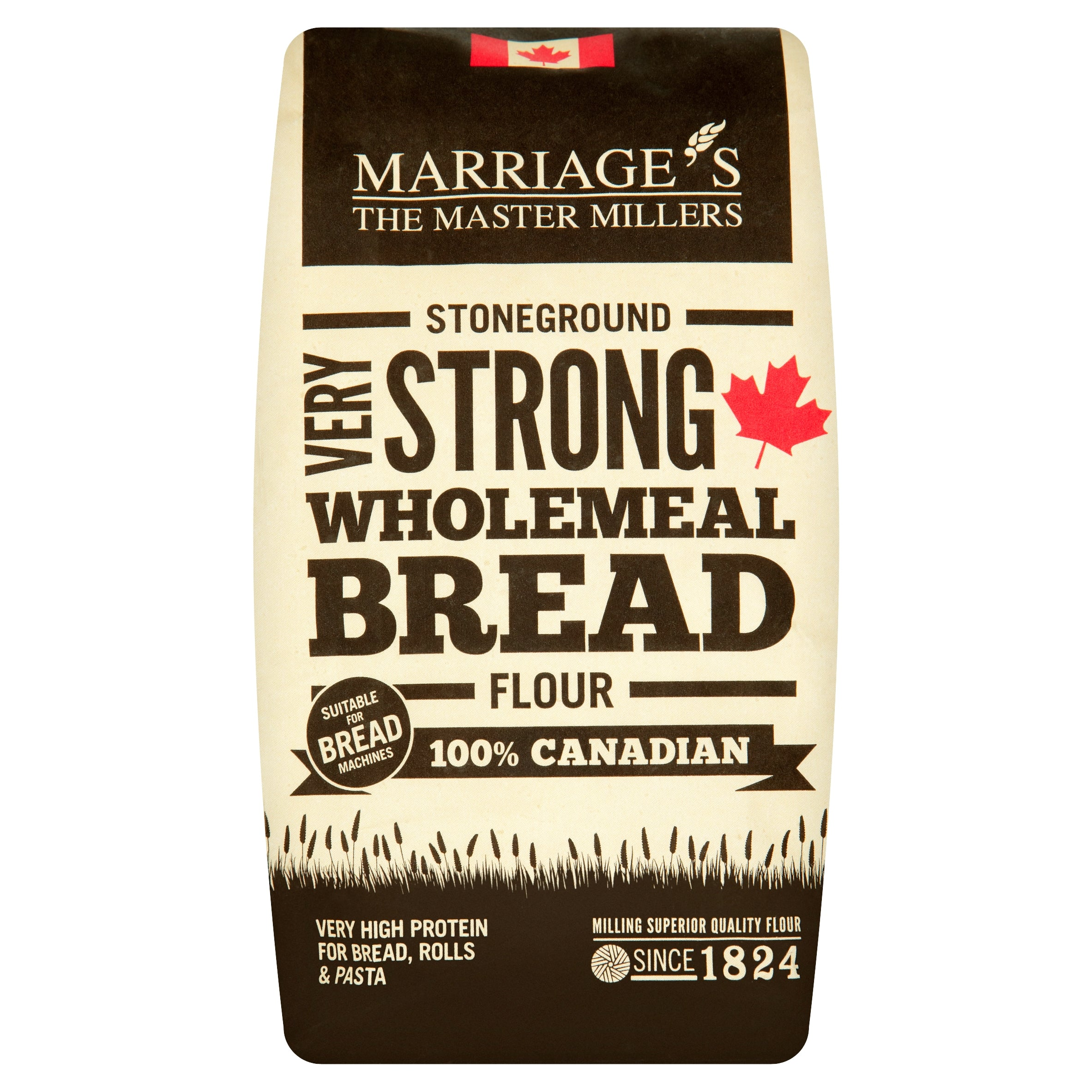 Marriages 100% Canadian Wholemeal Flour Very Strong 1.5 kg - Flour 2 Door