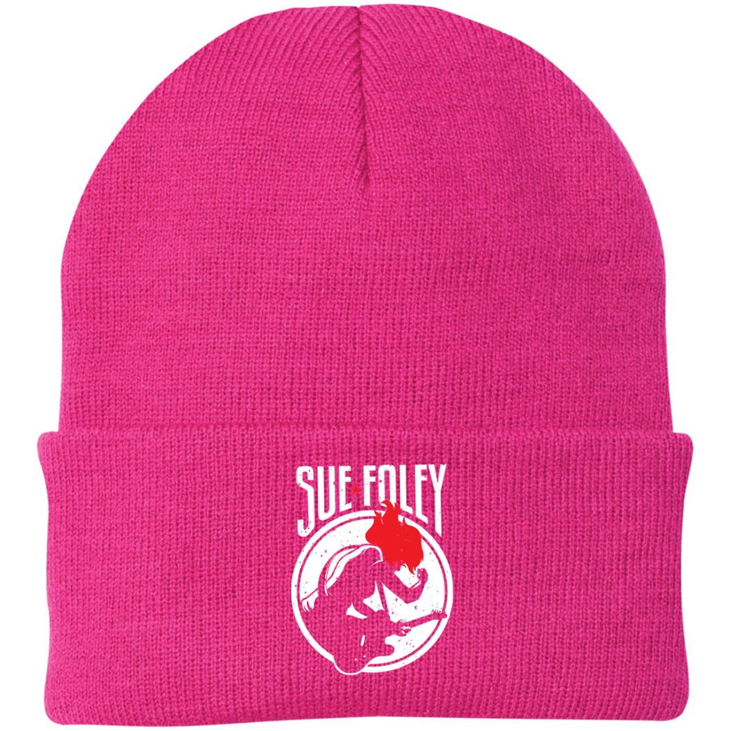 Sue Foley Stamp Knit Cap - Pink