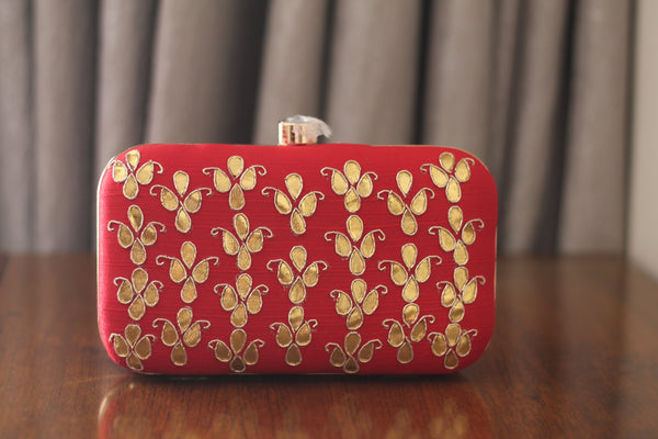 Avanche by Janhavi - Gotawork Hand Embroidered Clutch