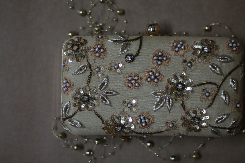 Avanche by Janhavi - Sequin and Pearl Detailing Clutch