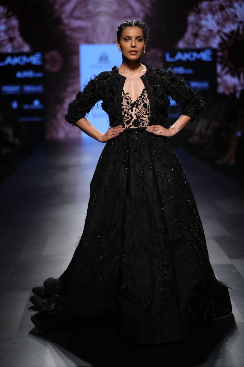 Amit GT - Black ball gown