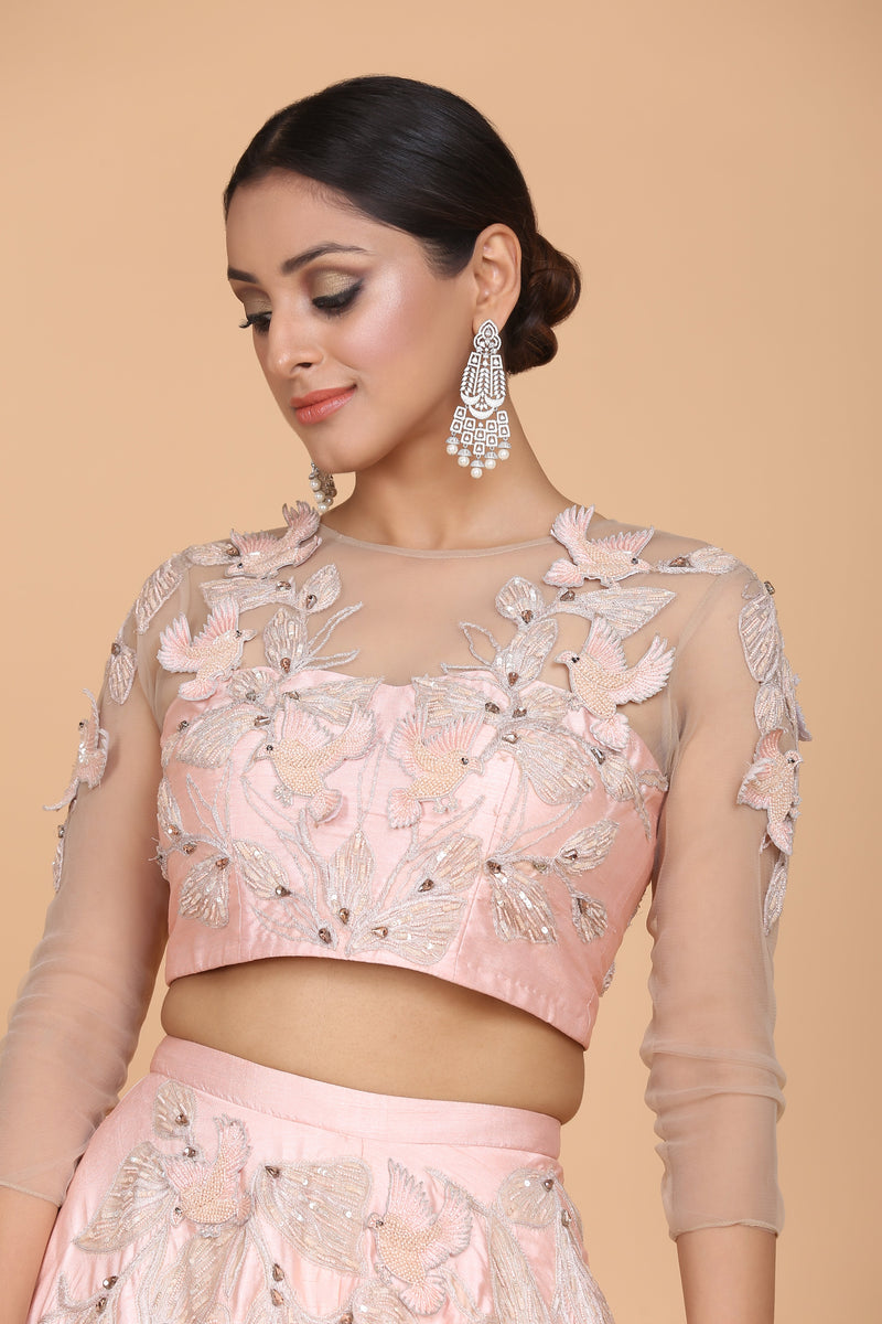 Amit GT - Floral Embroidered Lehnga Set