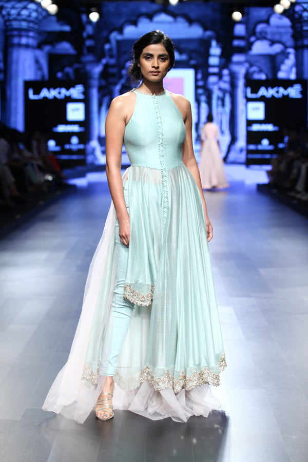 Anushree Reddy - Blue Anarkali