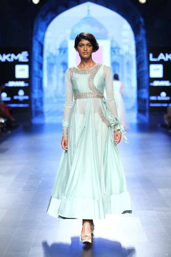 Anushree Reddy - Light Blue Anarkali