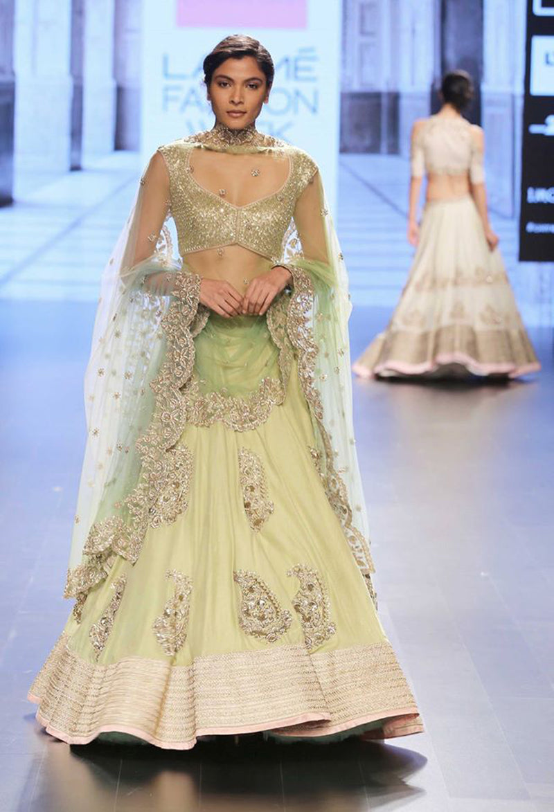 Anushree Reddy - A Chanderi Silk Lehenga with Sequins Blouse