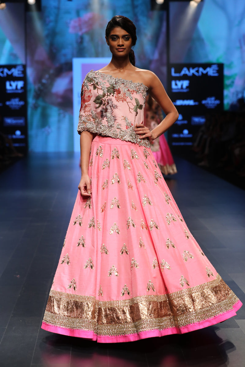 Anushree Reddy - Butterfly Lehenga With Cut Work Cape