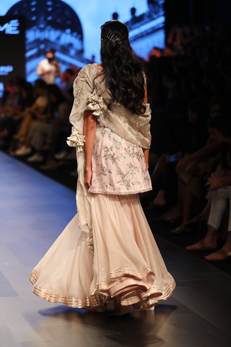 Anushree Reddy - Peach kurta with sharara