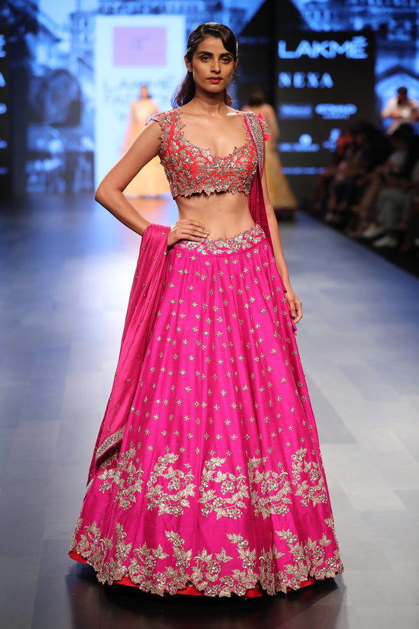 Anushree Reddy - Pink and red lehenga