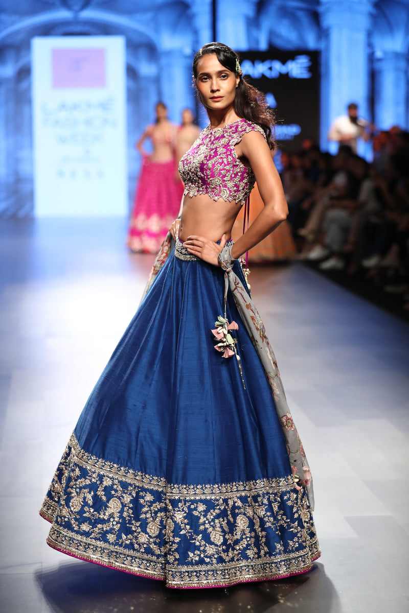 Anushree Reddy - Pink and royal blue lehenga