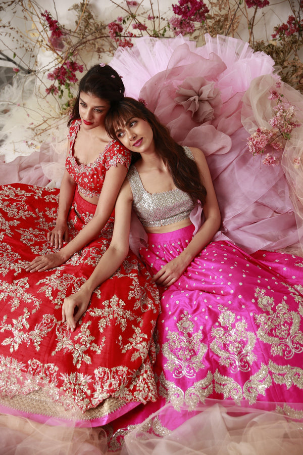 Anushree Reddy - A Raw Silk Zardozi Lehenga Set