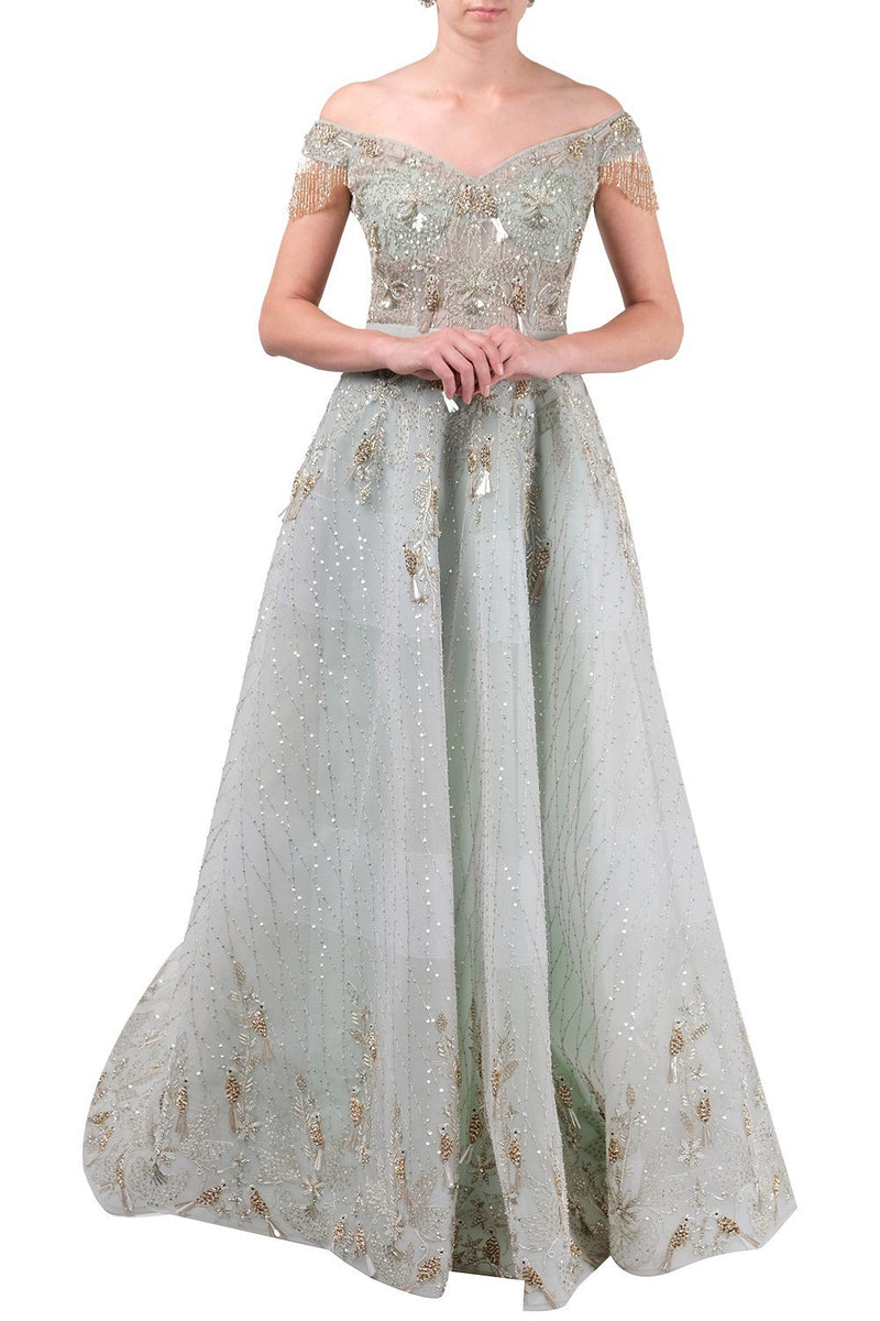 Amit GT - Sea green gown