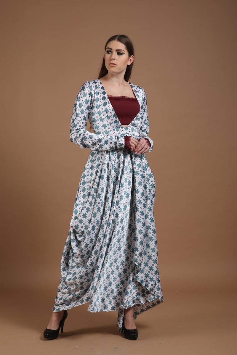Bhagyashree Singh Raghuwanshi - Printed Cowl Dress
