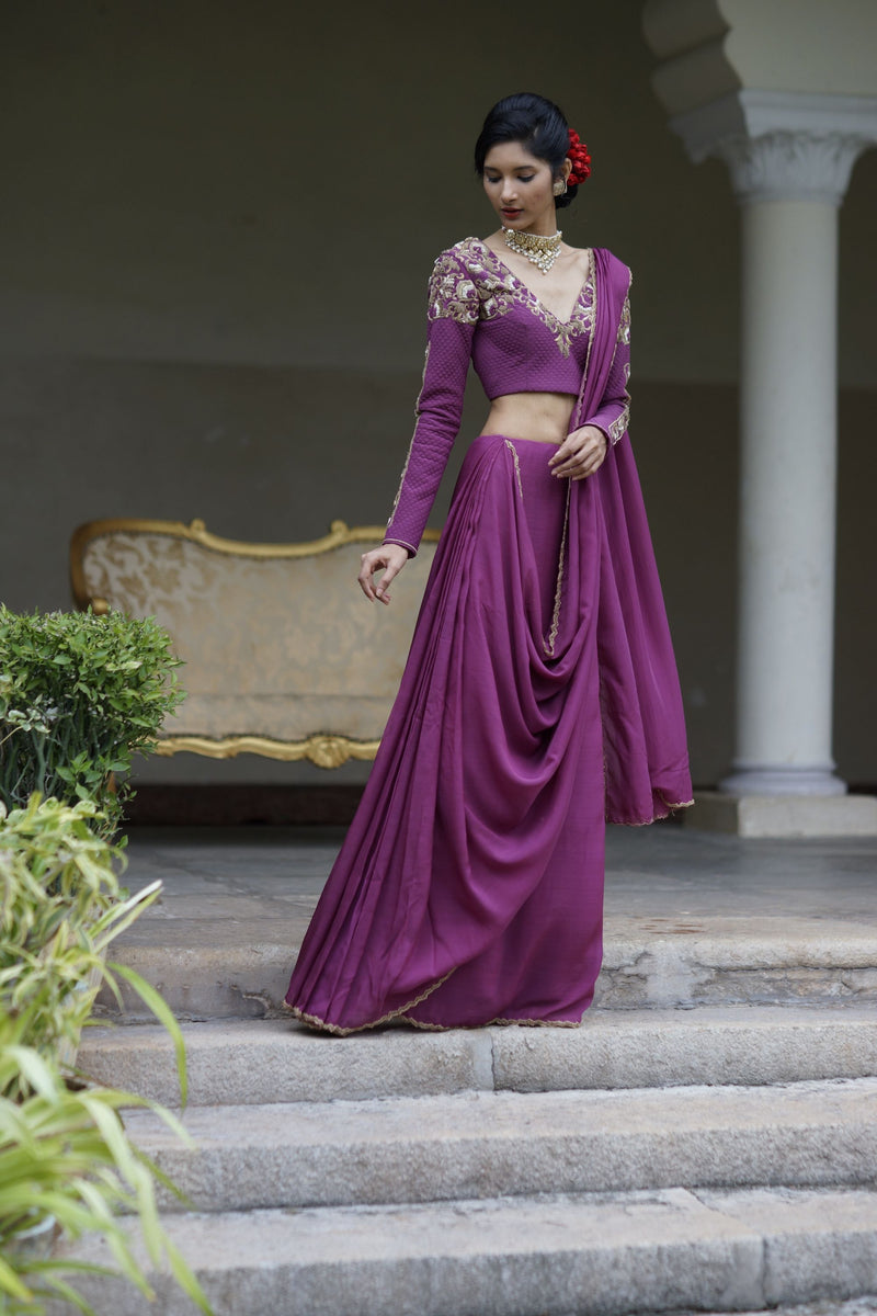 Kavita Agarwal- Flowing Luxury in Plum