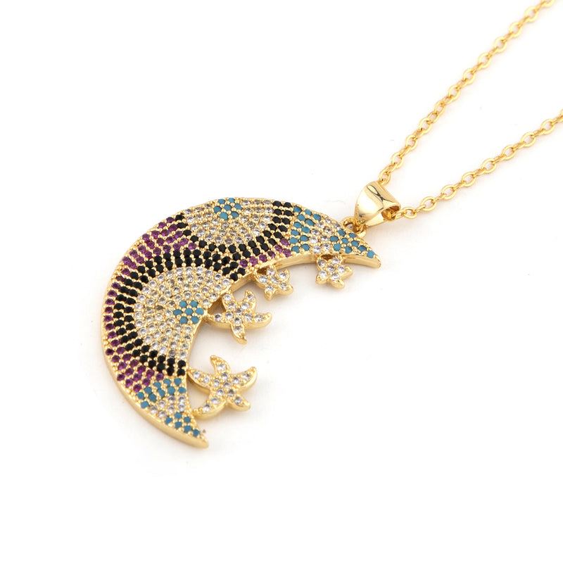 The Jewel Factor By Priti Mandhana - Cresent Moon Necklace