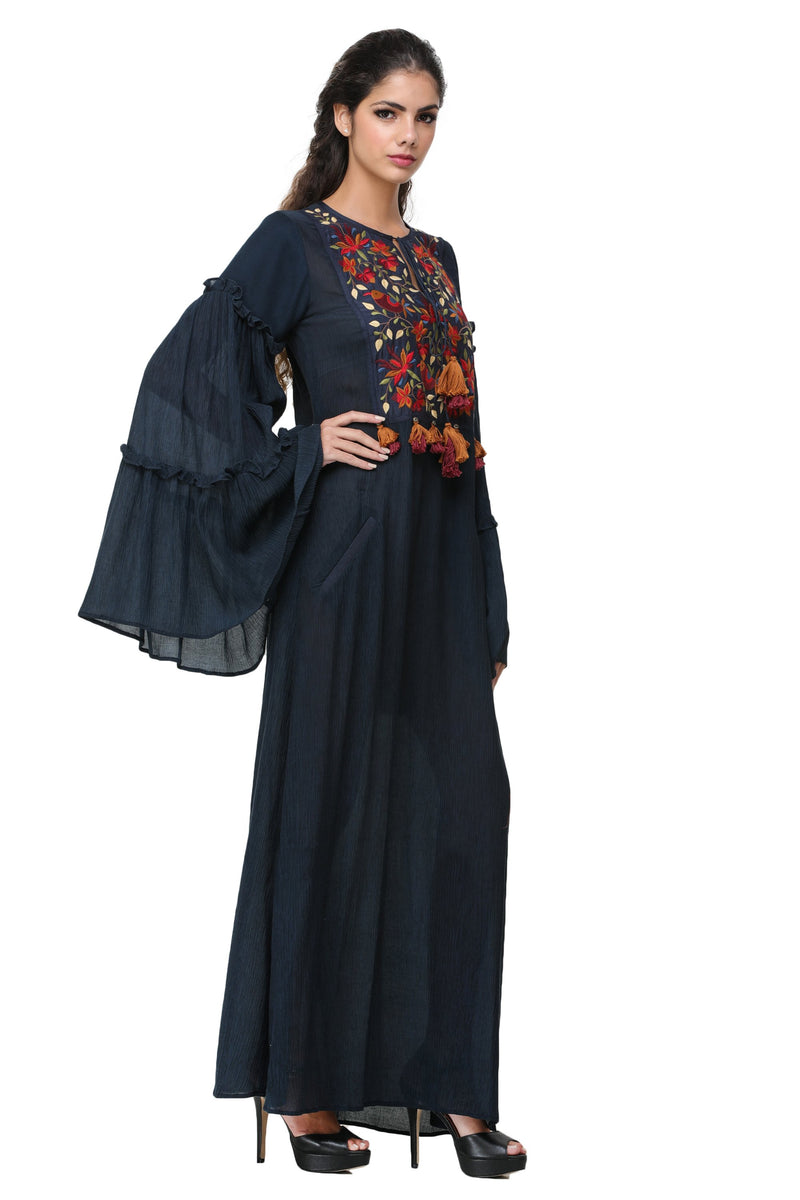 Pinnacle By Shruti Sancheti - Navy Blue Maxi