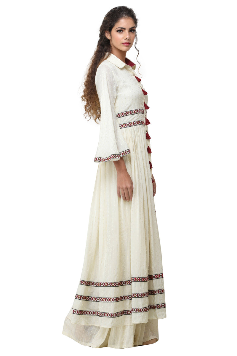 Pinnacle By Shruti Sancheti - Ivory Pant Suit