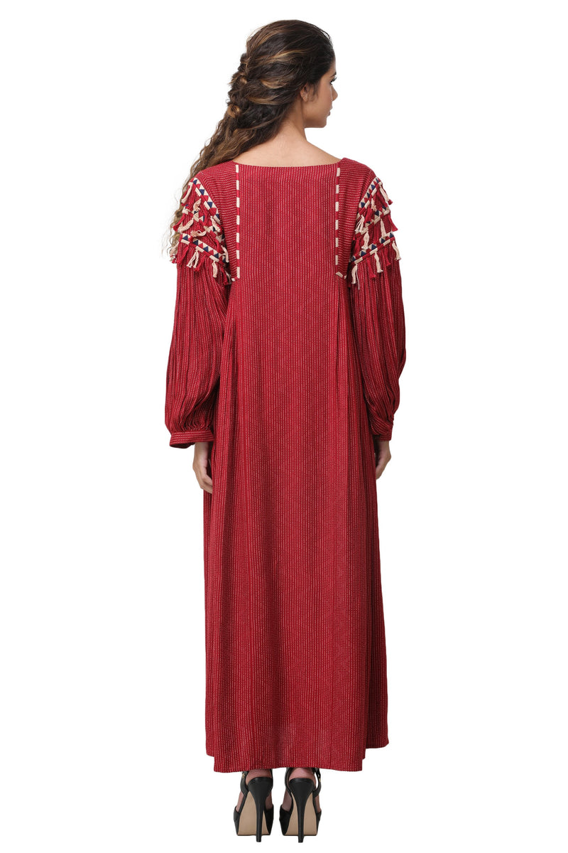 Pinnacle By Shruti Sancheti - Red Embroidered Maxi
