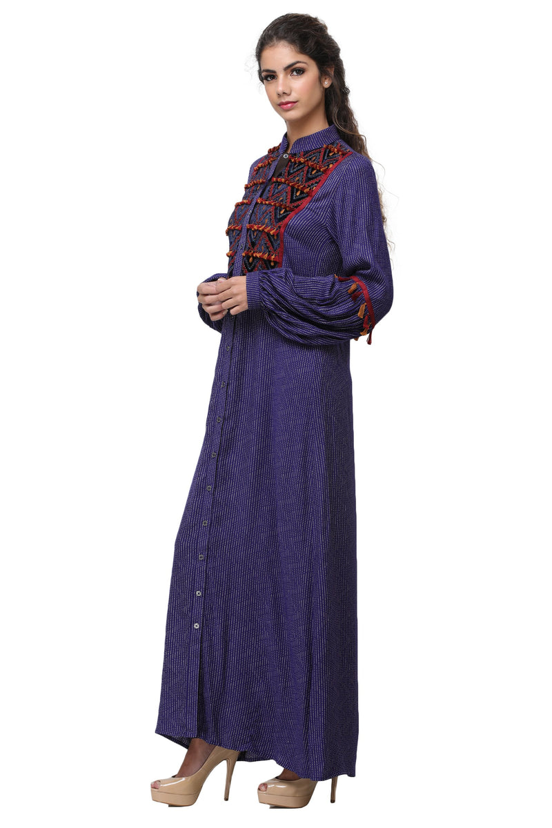 Pinnacle By Shruti Sancheti - Blue Embroidered Maxi