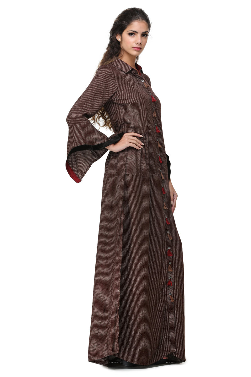 Pinnacle By Shruti Sancheti - Brown Shirt Dress