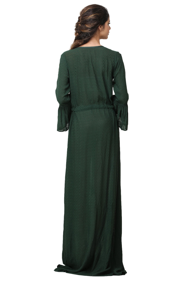 Pinnacle By Shruti Sancheti - Green Kaftan Embroidered Maxi