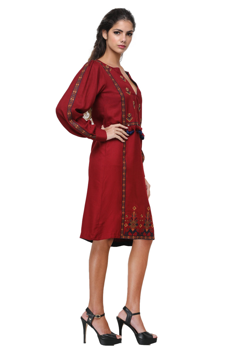 Pinnacle By Shruti Sancheti - Red Embroidered Dress