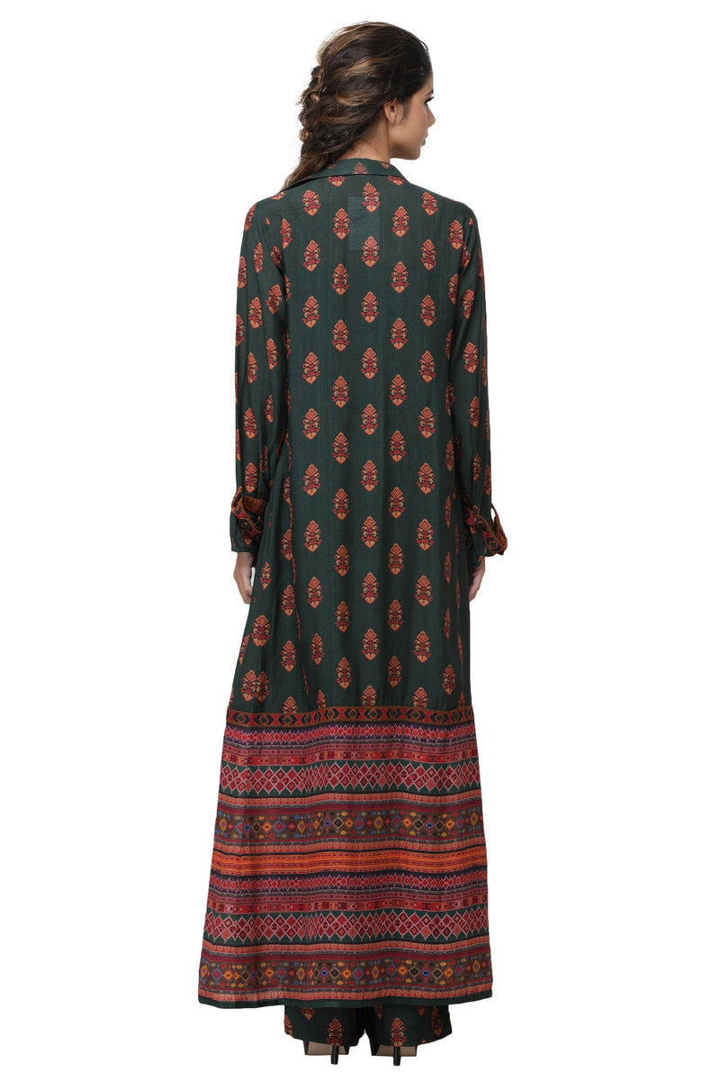 Pinnacle By Shruti Sancheti - Green Printed Pant Suit