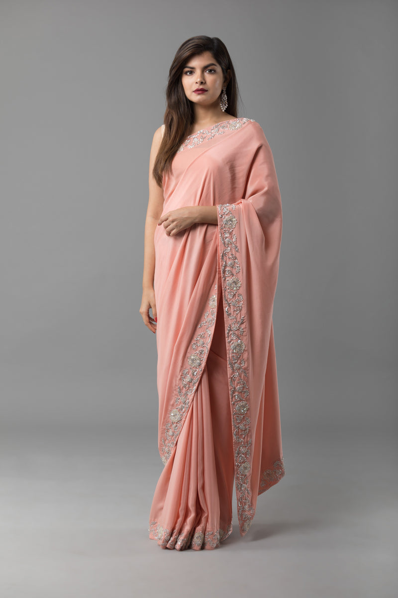 Sanjhana Reddy - Silk Hand Embroidered Saree
