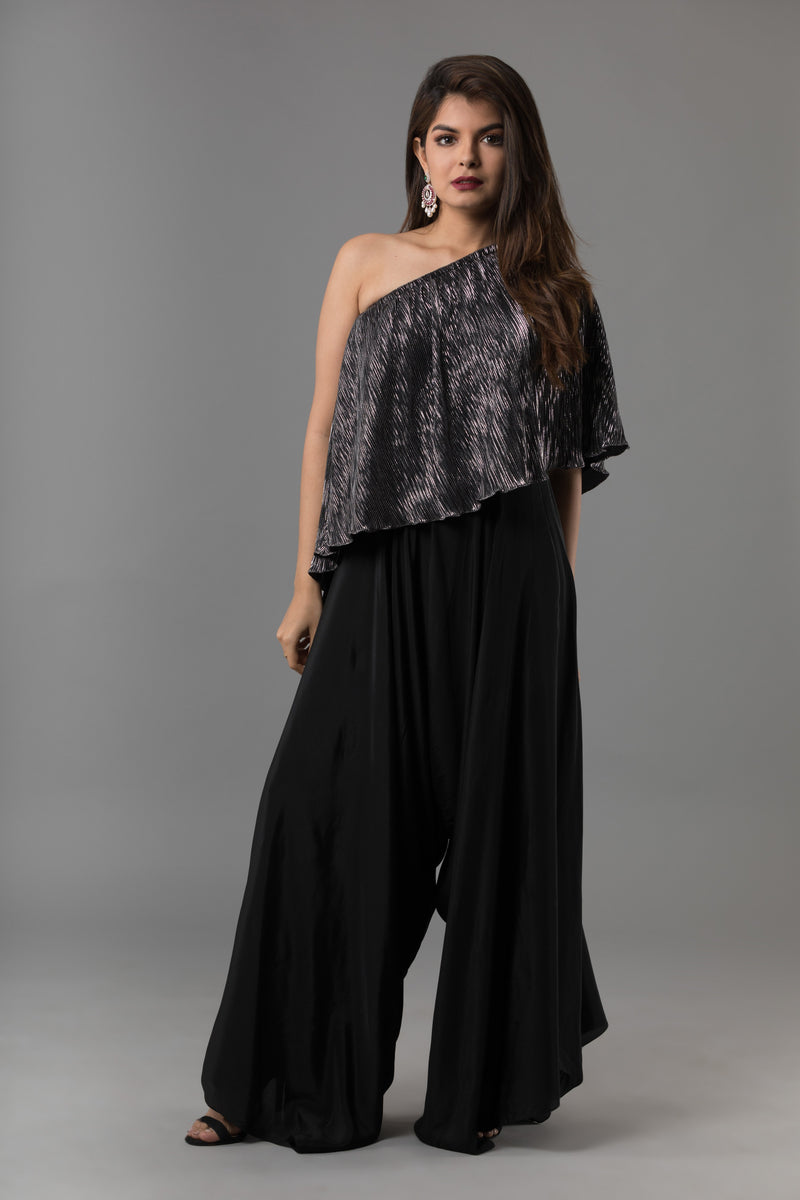 Sanjhana Reddy - Plise Top & Drape Pants
