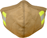 PGI BarriAire™ Gold FR Face Mask with Wrap Around Strap & Reflective Trim