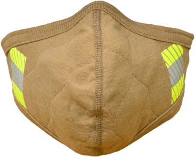 PGI BarriAire™Gold FR Face Mask with Wrap Around Strap & Reflective Trim